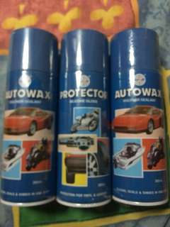autowax polymer sealant (2) & protector (1) buy all for $20