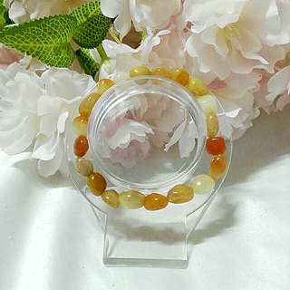 A yellow jade size 8mm