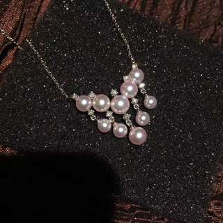 (預定)日本珍珠鑽石項鍊  Mikimoto 供应商入门款 推薦
