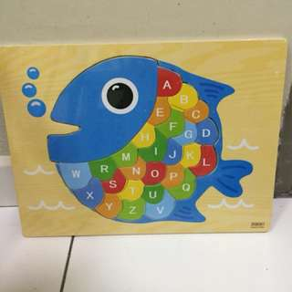 Educational Wooden Jigsaw Puzzles - Fish