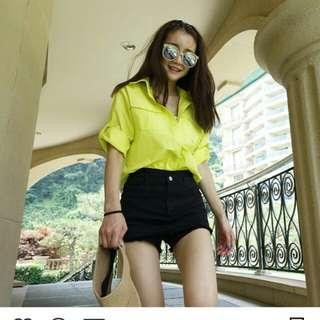 韓國最新黑色牛仔褲