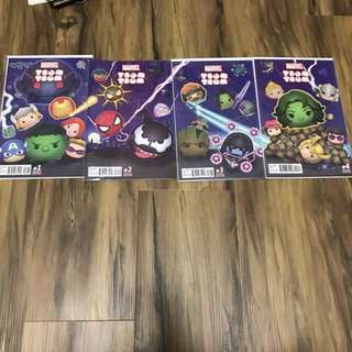 Marvel TSUM TSUM 1-4 connecting variant covers