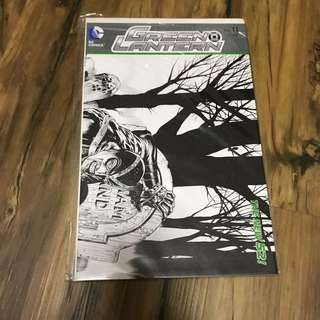Green lantern 11 black and white incentive variant