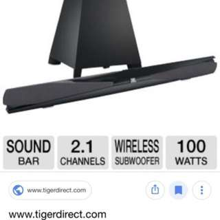 JBL soundbar with subwoofer c/w remote