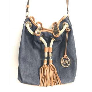 Michael Kors Denim Bucket Bag