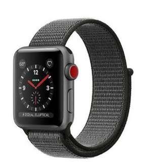 Apple Watch Series 3 with Dark Olive Sport Loop