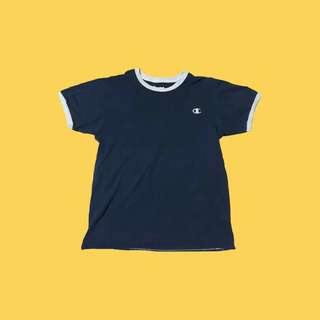 REPRICED Champion logo tee in blue