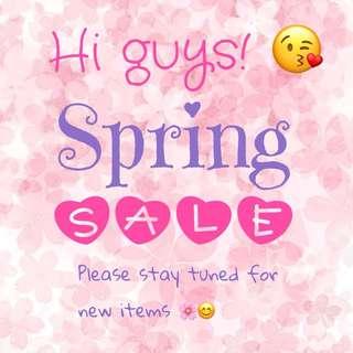 Spring SALE 🌸😊
