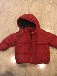 Gap winter jacket red 16-24 months