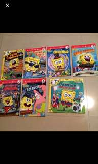 Set of 7 Sponge Bob Squarepants