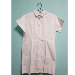 *NEW* Editors Market White Shirt Dress