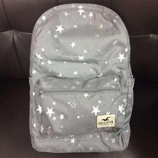 Hollister backpack 星星圖案 背包 背囊 書包 大容量 輕身 (購自美國)