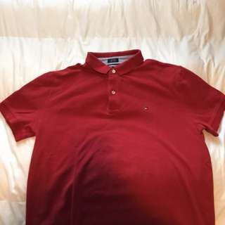 Red Tommy Hilfiger Polo shirt