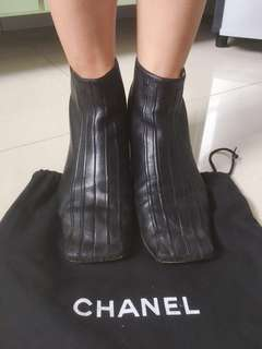 Chanel Lambskin Leather Boots