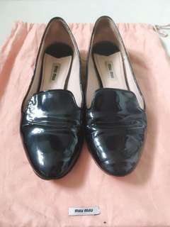 Miu Miu Black Patent Leather Shoes