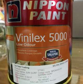 Nippon Paint Vinilex 5000 Low Odour (Balance 80% of 1 litre)