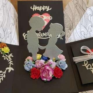 Anniversary Handmade Explosion Box Card