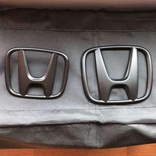 Honda Civic FD front and rear stock matt black emblem