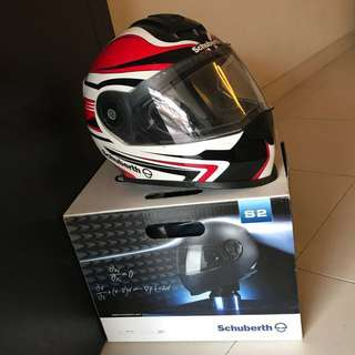 Schuberth S2 Helmet - Sport Tech Red (L size)