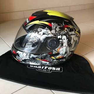 Grayfosh G2500 SAM Full Face Motor Helmet (L size)
