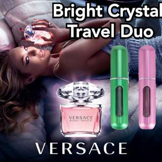 Versace Bright Crystal - Two 5ml on the go Perfume Sprays