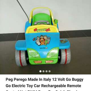 Give away with purchase bless Peg perego electric Car 12V