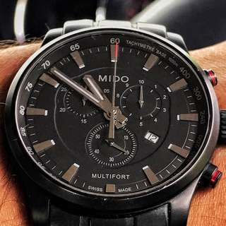 Mido Multifort Chronograph Black PVD