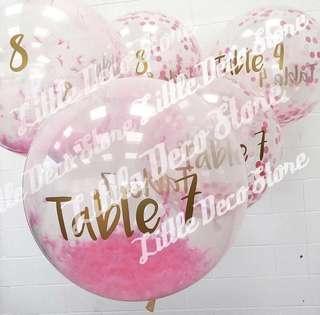婚禮汽球Table Number