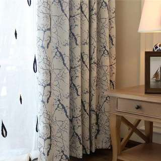 Marble effect Night curtain set
