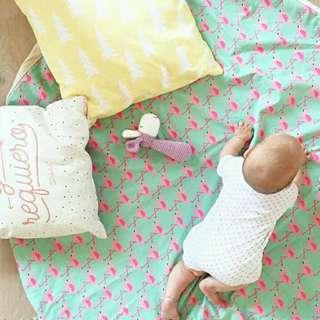 Flamingo baby toy storage pouch