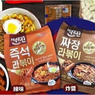 🚚 韓國 DONG WON 東遠 炒年糕麵料理包 – 2人份 (辣味/炸醬二種可選)