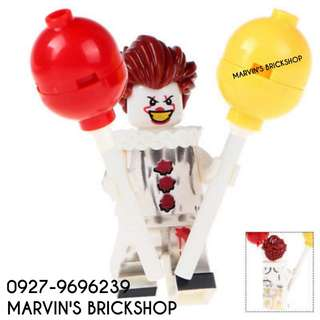 For Sale Pennywise Clown Minifigure with 2 Balloons