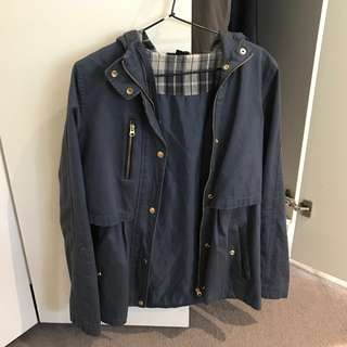 TOPSHOP Grey Blue Jacket Size 12