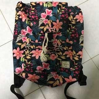 Floral print bag pack