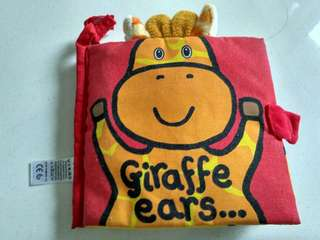 "Soft book dr mothercare ""Giraffe ears"""