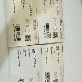 Swarovski (SS10 RM25.00-100pcs)(SS12 RM35.00-100pcs)(SS16 RM45.00-100pcs)(SS20 RM55.00-100pcs)