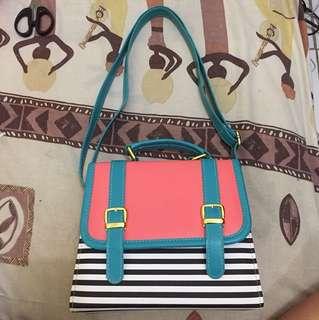 Strip pink blue black&white