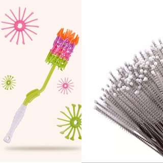 Silicone bottle brush + straw brush