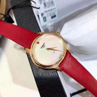 Ladies Bella Ora Piccola Red Leather Strap Watch