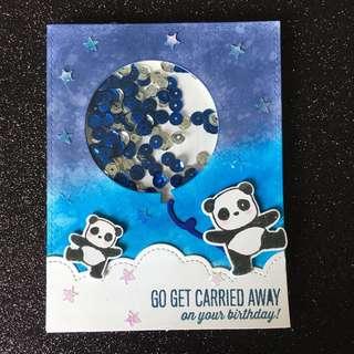 Panda birthday shakercard