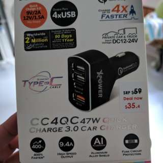 Quick charge car charger (Qualcomm 3.0)