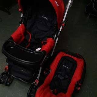 Baby Stroller n baby seat ( 2 in 1)