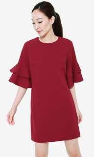 AWE Elsie Flutter Sleeve dress m