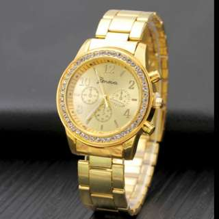 Geneva gold watch