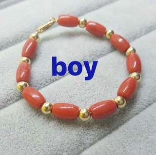 baby coral bracelet