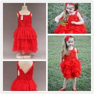 红沙裙(女童连衣裙)