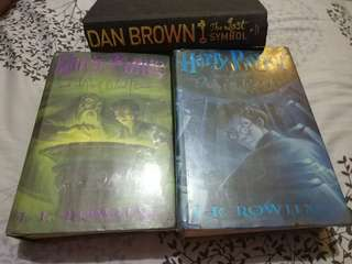 Harry Potter hard bound & Dan Brown's Lost Symbol