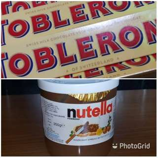 Nutella and/or Toblerone