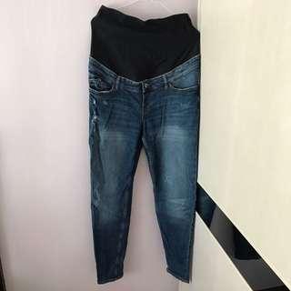 H&M 孕婦牛仔褲 包肚 大肚褲