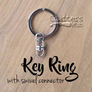Key Ring / Keychain / Key Ring With Swivel Connector / DIY Keychains for Charms, Amigurumi, Name Tag, Shrink Art